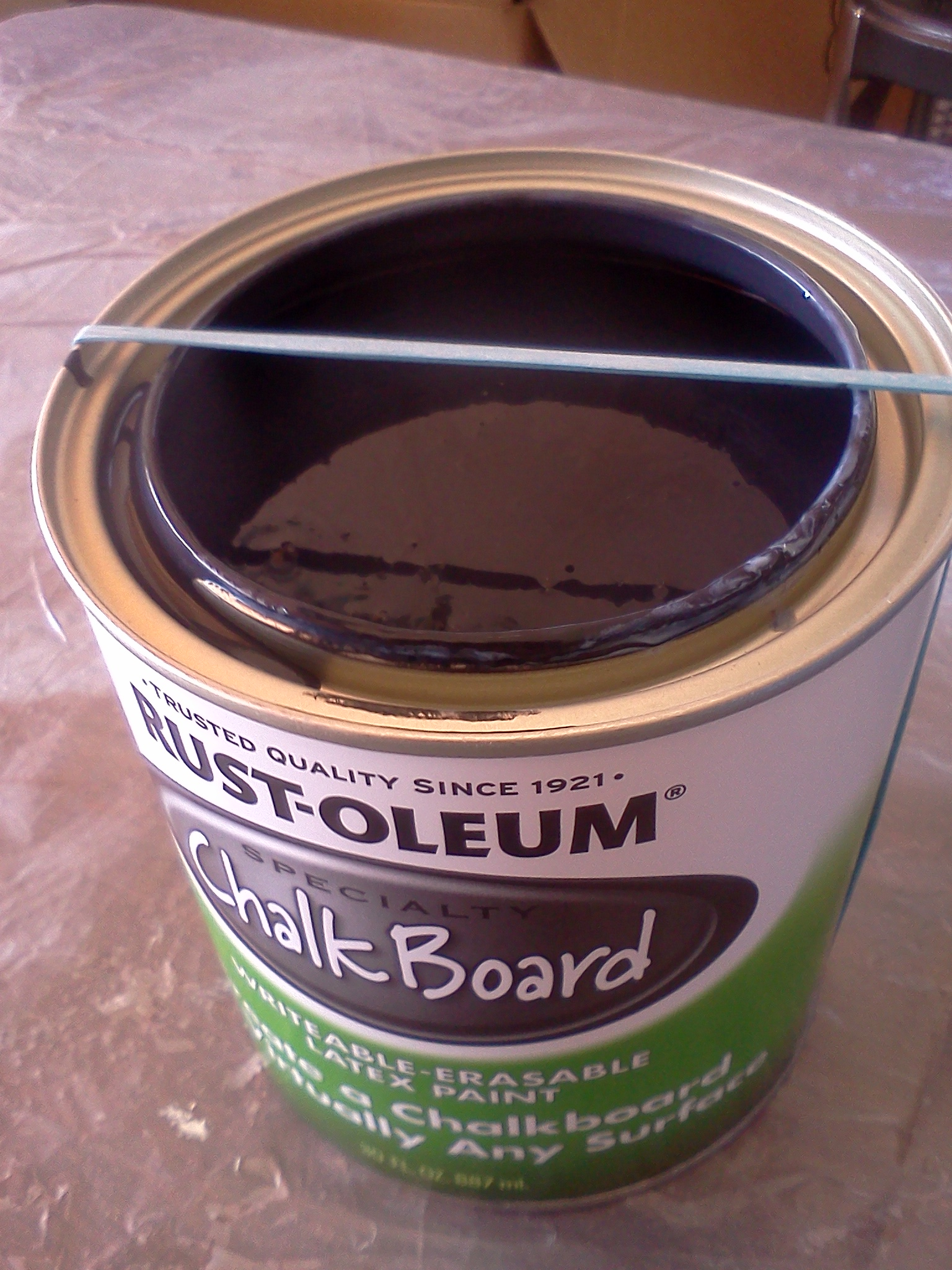 how to open sealed paint can